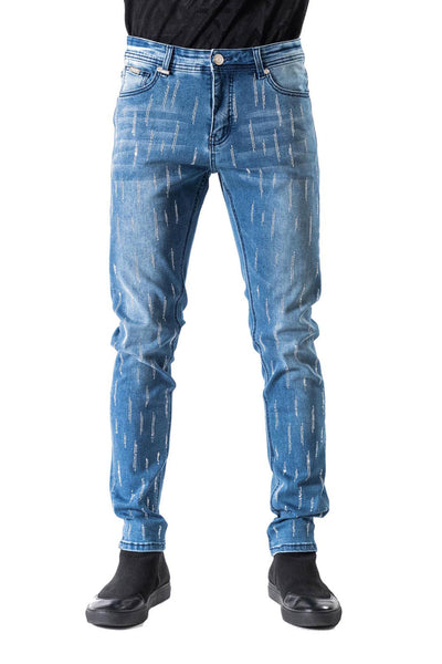 BARABAS Men Jeans Gem- Blue SN8886-1 Blue