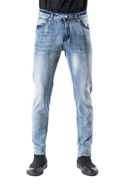 BARABAS Men Jeans Ice- Blue SN8887 Blue