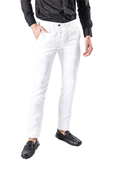 BARABAS Men Pants Chaps-White VP1020 White