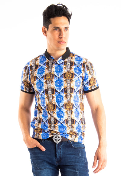 BARABAS Men Polo Printed Shirts Chained to You P938