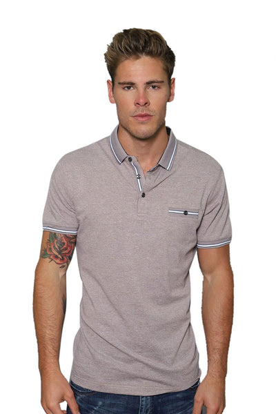 Barabas Men's Solid Color Print Graphic Tee Polo Shirts PP001