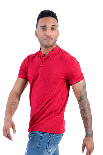 BARABAS Men Polo solid color 365 Red polo Shirts PP803