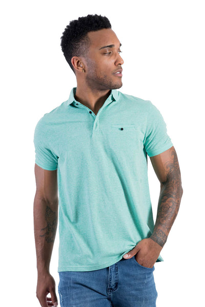 BARABAS Men's Solid Color 365 short Sleeve green Polo Shirts PP804