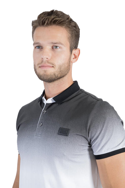 BARABAS Men Polo Printed Shirts Just Slightly PP815 Grey