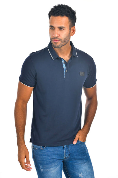 BARABAS Men Navy color 365 logo Polo shirts PP821-1
