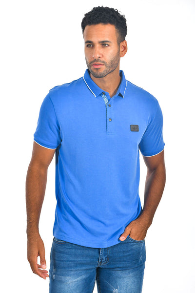 BARABAS Men Royal Blue color 365 logo Polo shirts PP821-1