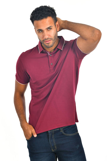 Barabas men solid color polo shirts PP821
