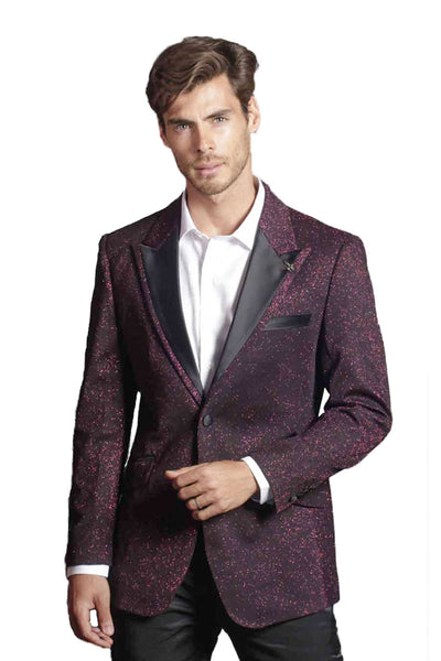 BARABAS Men Blazer Touch of Wine R7001-XL-WINE