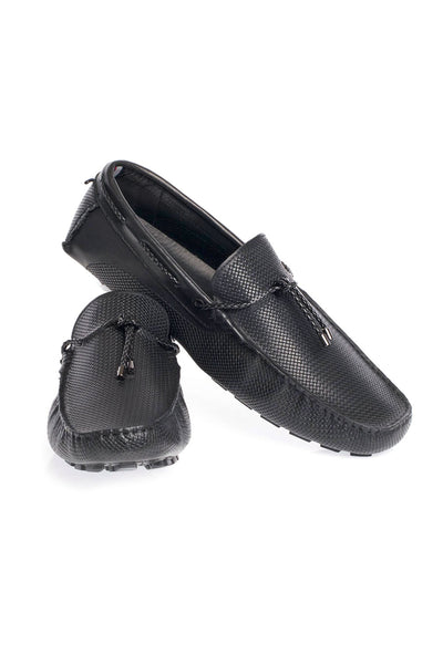 BARABAS Men leather loafer slip on black coffee Shoes SH4052