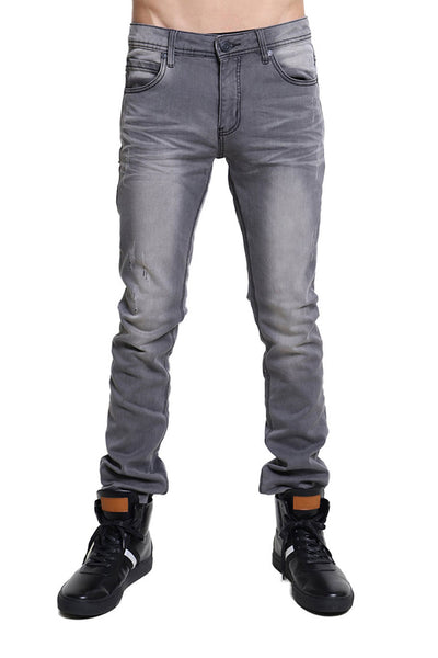 BARABAS men's distressed grey denim Jeans SN8850