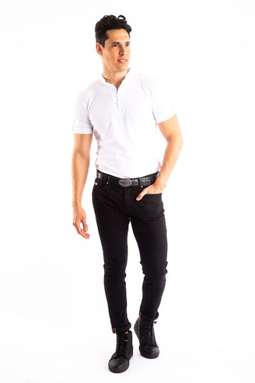 White T-shirt and Black Jeans