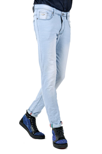 BARABAS Men Jeans Trusting SN8883 Light Blue
