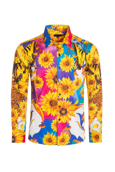 BARABAS Men Printed Shirts Soleil Attraction #SP200-MUL-S