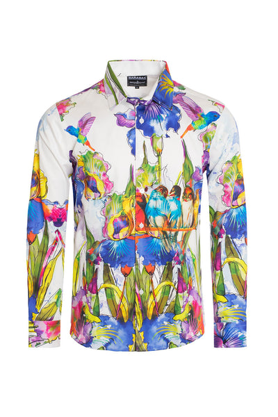 BARABAS Men's Watercolor Animal Floral Printed Dress Shirts of SP209