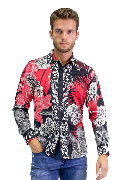 BARABAS Men Printed Shirts Hearty SP960 Multi Color