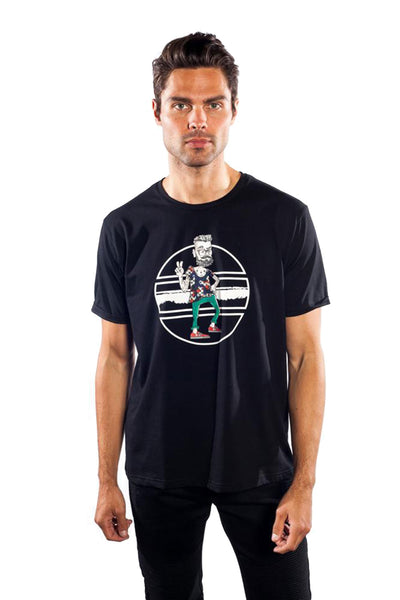 BARABAS MEN Tshirt Peace Out TS15 Black