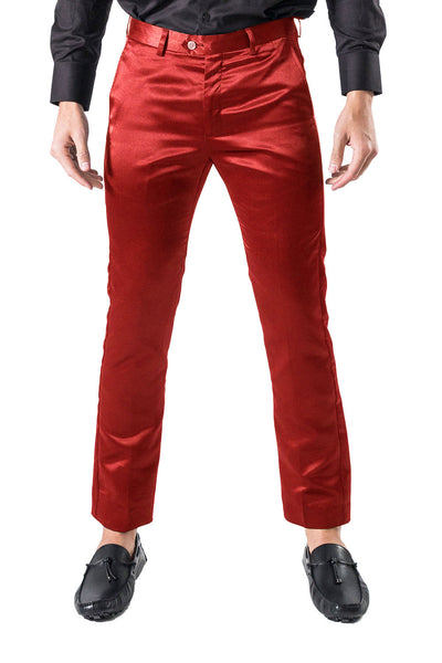 BARABAS Men shinny dress Pants Red VP1020