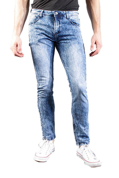 BARABAS Men's Light Wash Blue Denim Jeans VS5001