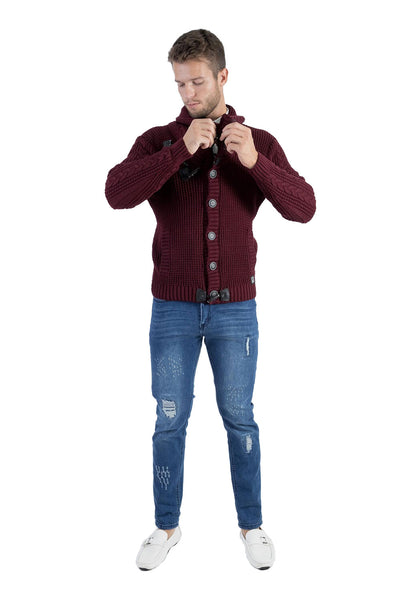 BARABAS Men Sweater Residence WZ256 Wine