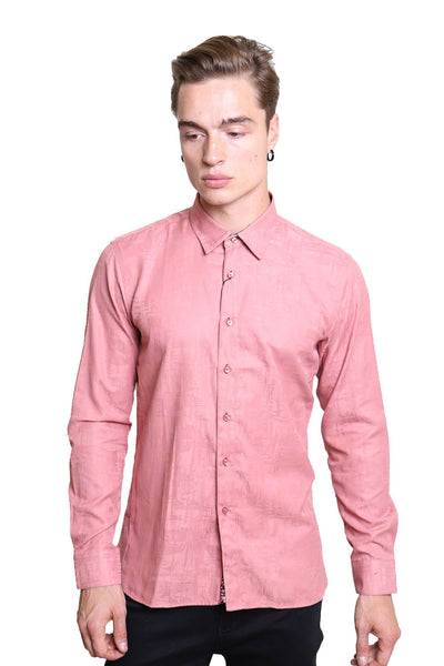 Barabas Men's Solid Color  Button Down Long Sleeves Shirts B2903