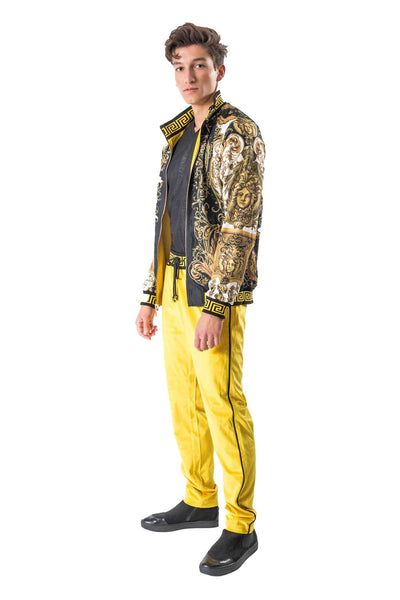 BARABAS Men Pants Transpose- Gold JJ900 GOLD Gold