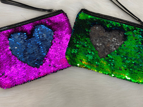 XNO Cosmetics sequin double sided bag-1bag only