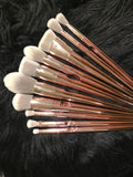 BACK ORDERED- XNO Cosmetics 10pc rose gold metallic brushes