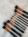 XNO COSMETICS black marble brush set