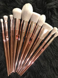 XNO Cosmetics 10pc rose gold metallic brushes