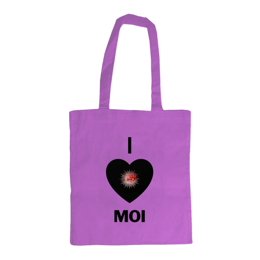 27 x 27 cm Shoulder Tote Bag I LOVE MOI - Yellow - Accessories & Homeware