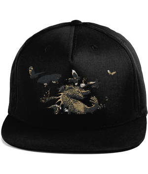 Cotton Snapback Cap *DRAGON BUTTERFLY
