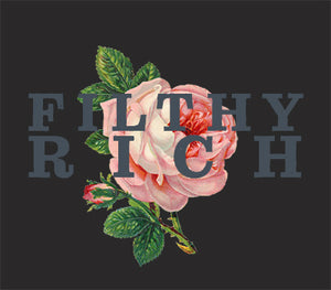 "Raw Neck Tee ""DK Filthy Rich"""