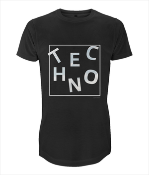 Long Men's T-Shirt *TECHNO DANCE IN THE SKY