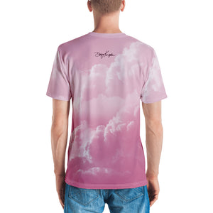 "Men's Crew Neck T-Shirt ""DK CLOUD ROSE"""