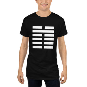 "Long Body Urban Tee ""DK I -Ching 1"""