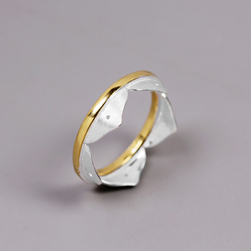 Minimalist Crown Sterling Silver Ring