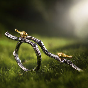 Bird on Branch Fashion Ring