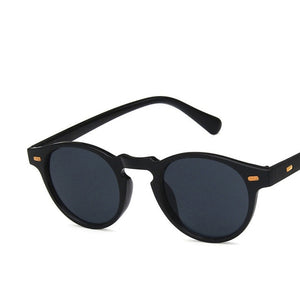 Unisex Retro Small Oval Frame Mirror Vintage Sunglasses