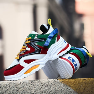 Men breathable colourful sneakers