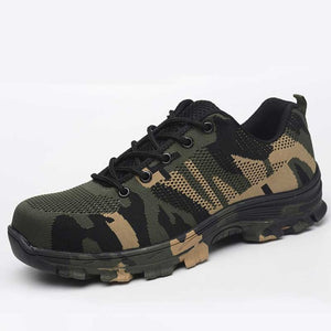 Camouflage breathable safety sneakers