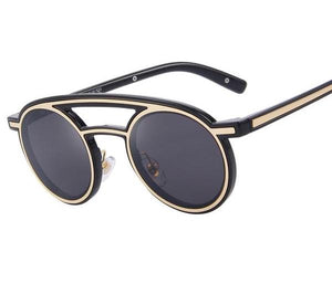 Women Retro Sunglasses Double Bridge Integrated