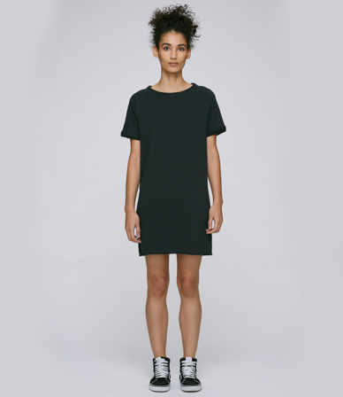 STELLA TENDERS T-SHIRT/DRESS TO SHOW YOU THE FIT. 85% organic cotton- 15% Polyester.