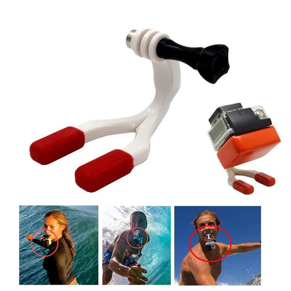 Fixation GoPro Plongee Sous Marine - Bouche - Flottable - Surf - ABS