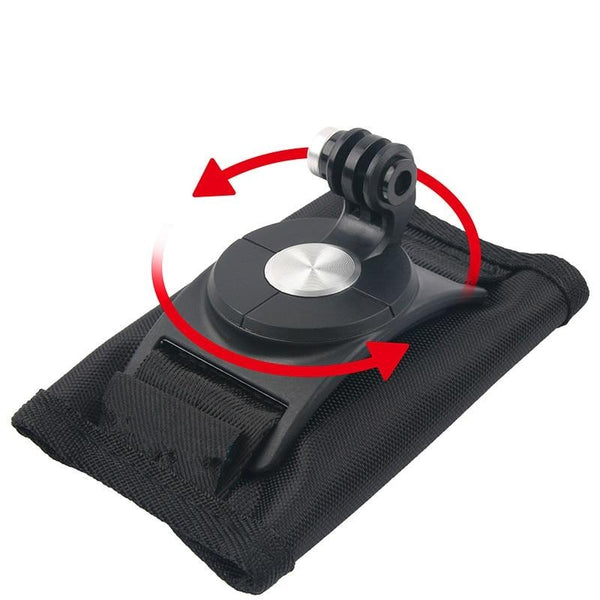 Fixation GoPro Velcro - Sac A Dos - Sangle - Rotule 360 Degres