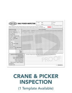 Picker Mobile Crane Inspection Report