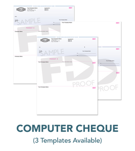 Custom Computer Cheque template