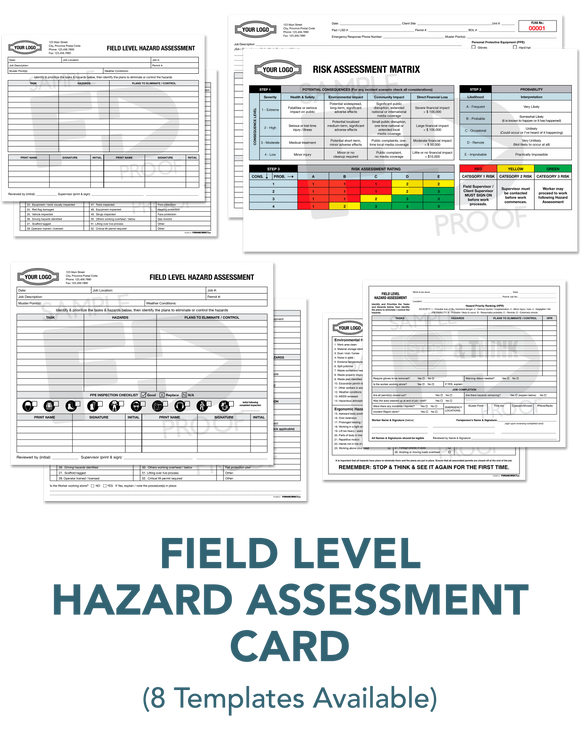 Field Level Hazard Assessment Card FLHA