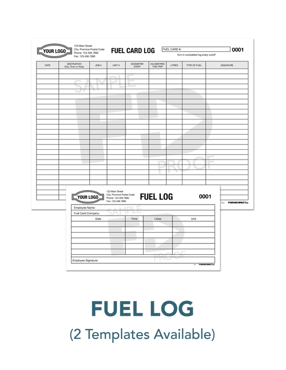 Custom Fuel Card Log Record