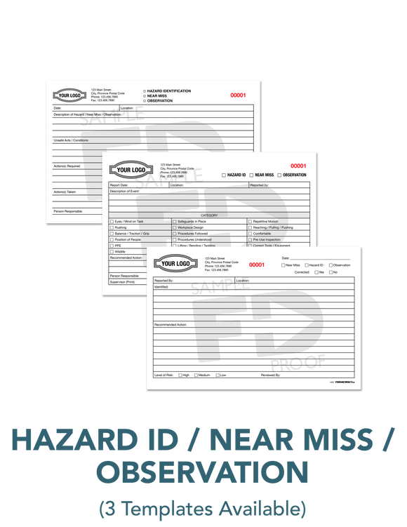 Hazard Identification Near Miss Observation