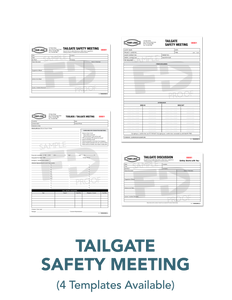 Tailgate Toolbox Safety Meeting form template